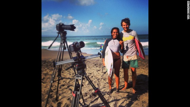 "BALI, INDONESIA: ""So today I had the pleasure of spending the day with Indonesian pro surfer Diah Rahayu (<a href='http://instagram.com/didiahrahayu' target='_blank'>@didiahrahayu</a>) . Fun times!"" - CNN's Tom Booth, August 9. Follow Tom (<a href='http://instagram.com/tboothhk' target='_blank'>@tboothhk</a>) and other CNNers along on Instagram at <a href='http://instagram.com/cnn' target='_blank'>instagram.com/cnn</a>."