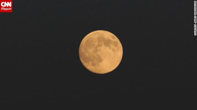 "James V. Wardhaugh has been a photographer for 40 years and found that the moon on Saturday night in Belleville, Ontario ""was begging to be photographed as cloudy weather kept the last supermoon in July elusive."""