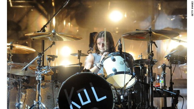 Kings of Leon drummer Nathan Followill suffered broken ribs when the band's tour bus stopped suddenly Saturday night.