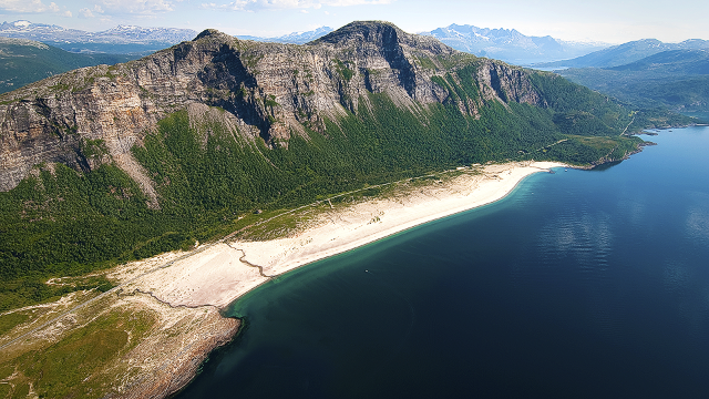 SALT Festival organizers were attracted to Norway's Sandhornya Island because of its stretches of white sand. Permission from 22 different owners had to be obtained before the festival could settle on the beach.