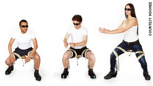 An invisible chair that you can wear