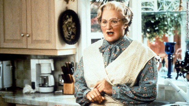 "Williams went to all lengths to stay with his children in the 1993 movie ""Mrs. Doubtfire."""