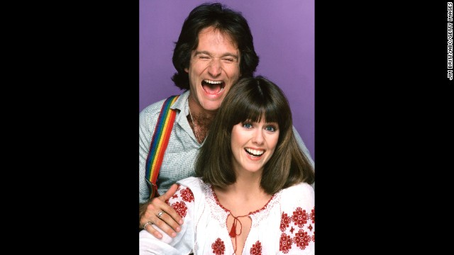 "Williams first shot to stardom with Pam Dawber in the sitcom ""Mork & Mindy"" in September 1978."
