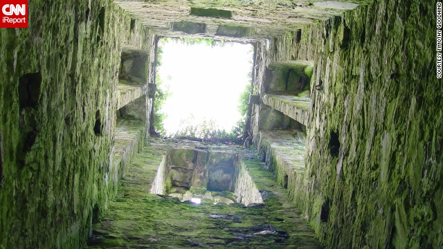 "Overgrown chapels, like this upward shot of the ""Old Graveyard,"" are just some of the historic buildings that stud the <a href='http://ireport.cnn.com/docs/DOC-1100872'>village of Cloghane</a>, which is located on the Dingle Peninsula in County Kerry, Ireland."