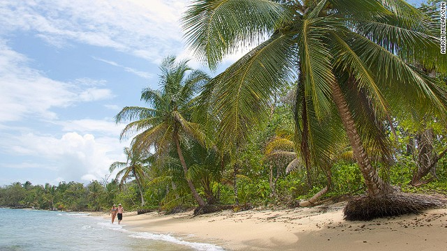 A full-on castaway experience can be had on the outer islands of the Bocas del Toro archipelago, where deserted paradises, like this one at Polo Beach on Bastimentos Island, are wild, undeveloped and easy to find.