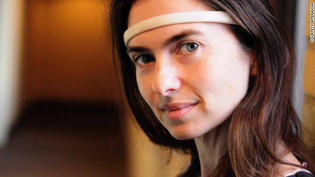 Meet Ariel Garten: 35-year-old CEO of tech company InteraXon. The business has created a headband which monitors brain activity, called 'Muse.' It claims to help reduce stress as the user focuses on their brain waves, which appear on a screen.