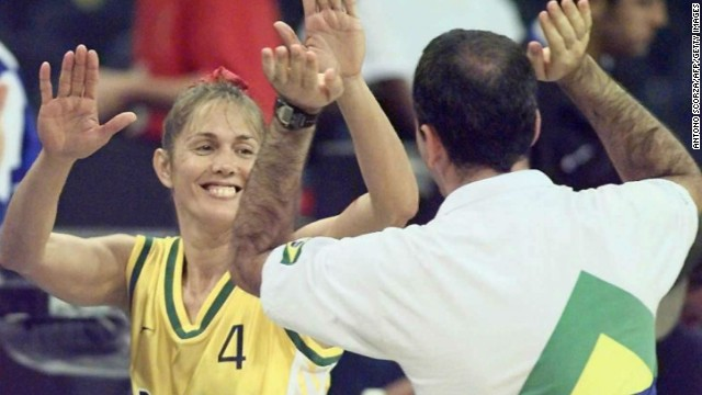 Oliva's mother is Hortencia -- pictured left -- who won Olympic silver as the star of Brazil's women's basketball team at Atlanta '96.