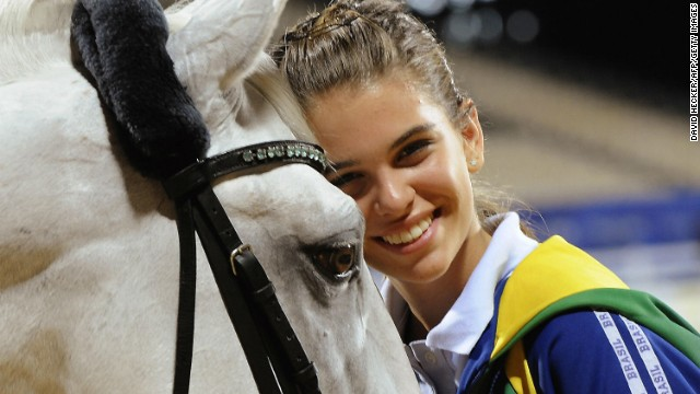 Luiza Almeida is another Brazilian dressage hope for 2016. She was just 16 when she made her Olympic debut at Beijing 2008 (pictured), becoming the youngest equestrian athlete in the history of the Games.