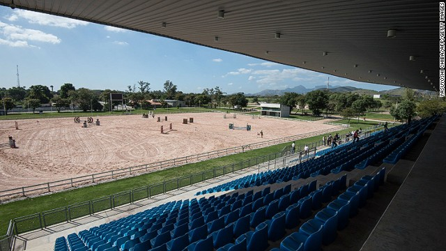 Brazil's National Equestrian Center, in the Deodoro cluster of venues, will host horse events at the Rio 2016 Games. This photo shows the venue in August 2014, prior to renovation work ahead of the Olympics.