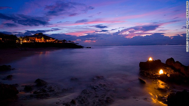 Mosquito Bay off Puerto Rico's Vieques Island is renowned for its bioluminescent waters that glow electric blue and green, thanks to tiny luminescent micro-organisms that live there.
