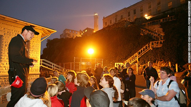 "Approximately 1,500 criminals cycled through Alcatraz federal penitentiary, including crime boss Al Capone and Robert ""Birdman"" Stroud. Only 700 people are allowed on the island at night, compared with the approximately 5,000-6,000 people that come through each day."