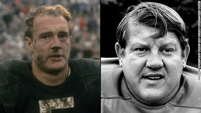 In 1963, the NFL suffered a double black eye with the banishment of two of football's biggest stars for betting on their respective teams. The culprits, Packers stalwart Paul Hornung, left, and Detroit standout Alex Karras, admitted their transgressions and accepted the punishment, causing Commissioner Pete Rozelle to extend grace and reinstate them after only a year in exile.
