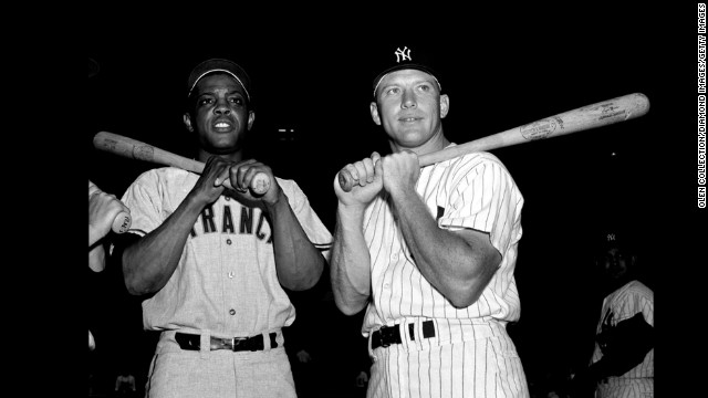What happens when a pair of baseball's greatest retirees and Hall of Fame members takes on public relations work for casinos? You ban them for life, of course. At least that's what happened to Willie Mays, left, and Mickey Mantle in 1983. The duo's work consisted mainly of playing golf with high rollers. Good sense prevailed and baseball lifted the ban in 1985.
