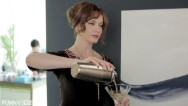 """Mad Men"" character Joan Holloway visits a more modern office. For more go to funnyordie.com."