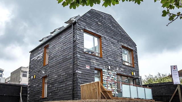 This 100% recycled residence in Brighton UK, uses thousands of toothbrushes.
