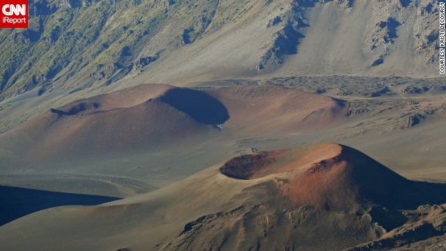 The <a href='http://ireport.cnn.com/docs/DOC-825914'>cinder cones </a>of Maui's Haleakala National Park form a stark volcanic landscape. Despite its desolate feel, the park is home to many <a href='http://www.nps.gov/hale/index.htm' target='_blank'>endangered species</a>.