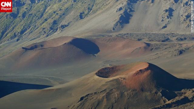 The <a href='http://ireport.cnn.com/docs/DOC-825914'>cinder cones </a>of Maui's Haleakala National Park form a stark volcanic landscape. Despite its desolate feel, the park is home to many <a href='http://www.nps.gov/hale/index.htm' target='_blank'>endangered species</a>.