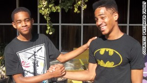 Isaiah Paysinger, 15, (right) with brother Zion, 14