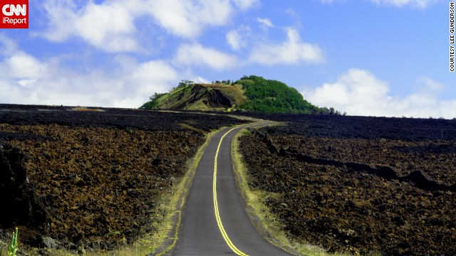 <a href='http://ireport.cnn.com/docs/DOC-855894'>Lee Gunderson</a> captured a lonely stretch of road in February 2006 on the Big Island, leading to the base of Mauna Kea and the W. M. Keck Observatory.