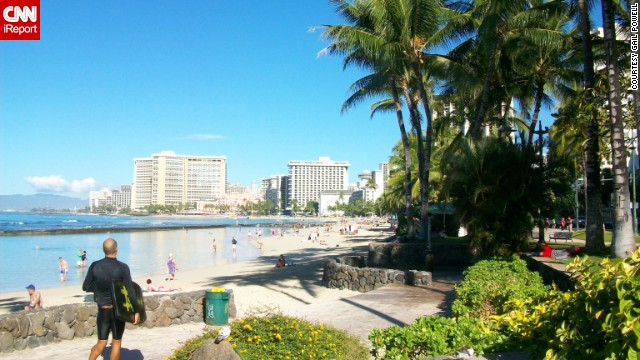 If nature isn't your thing, Waikiki's <a href='http://ireport.cnn.com/docs/DOC-1093715'>Kalakaua Avenue</a> offers a variety of <a href='http://www.gohawaii.com/oahu/plan-a-trip/shopping/waikiki-shopping' target='_blank'>luxury boutiques</a> for shoppers, and you'll still be able to see a stunning ocean view from the street.