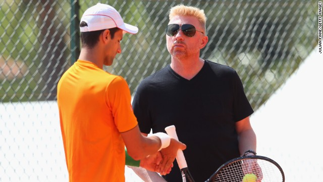 Becker, who won six grand slam titles during his illustrious playing career, started working with Djokovic ahead of January's Australian Open -- where the Serbian lost in the quarterfinals.