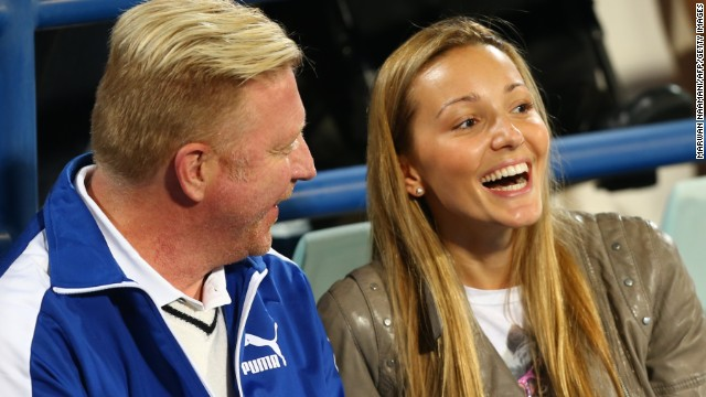 Becker has become an integral part of the Djokovic camp. He is pictured here with the world No. 1's wife Jelena Ristic.