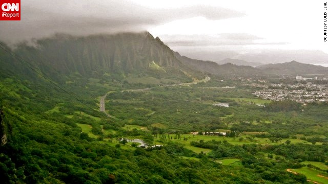 The <a href='http://ireport.cnn.com/docs/DOC-459335'>Koolau Mountain Range</a> dominates the eastern coastline of Oahu.