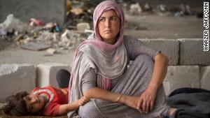 Many Yazidis, including Azwan\'s family, fled to Zakho, a city on the Turkish border.