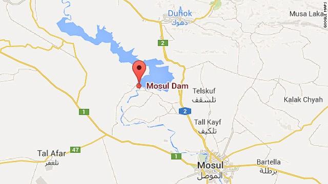 Map: Mosul Dam
