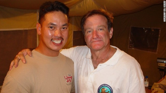 "While stationed in Pakistan in 2002, ""lifelong fan"" <a href='http://ireport.cnn.com/docs/DOC-1161666'>Del Dayrit</a> was thrilled to meet the comedic actor. Although they only spoke briefly, Dayrit said he could tell ""how genuine and sincere [Williams] is as a human being."""