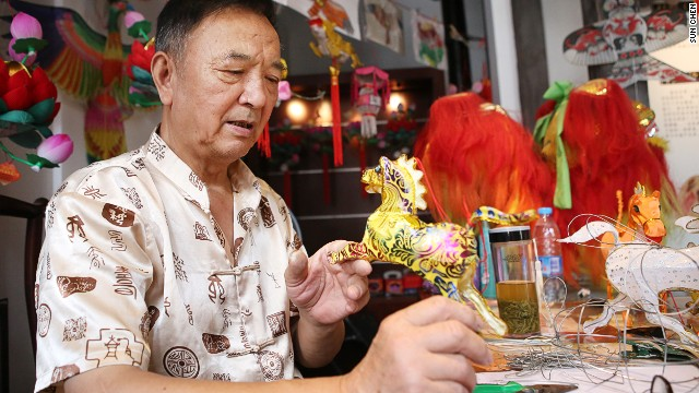 Every year, lantern master Cao Zhen-rong's studio is responsible for creating 10,000 lanterns for Nanjing's Lunar New Year celebrations and lantern festival.