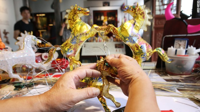 """From sourcing the materials to gluing the lanterns, around 30 procedures are involved in making each lantern,"" says Cao."