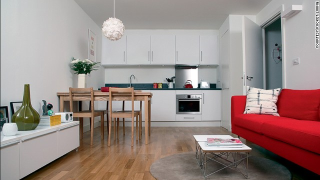 Pocket Living has already completed seven micro-condos across six London boroughs, and shows no sign of slowing down. They recently received funding from the mayor of London to aid in the creation of about 400 units for middle-income buyers. Units in their Camden development (pictured) range from 269 to 408 square feet.