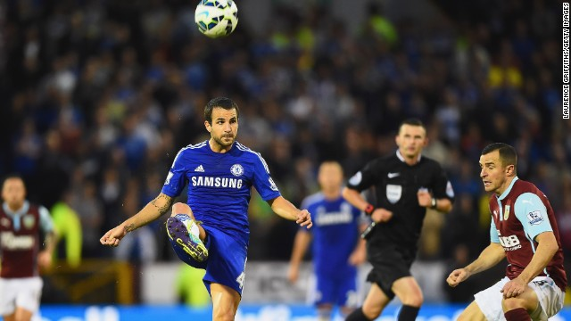 Cesc Fabregas, who joined Chelsea from Barcelona, impressed against Burnley in his team's comfortable win.