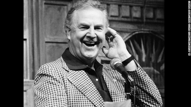 "Don Pardo, the man whose voice introduced the cast of NBC's ""Saturday Night Live"" for decades, has died, the network announced. He was 96. Here, Pardo is seen on the set of ""SNL"" in 1982."