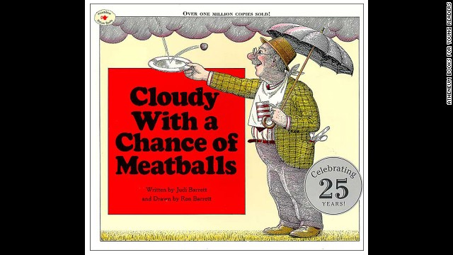 """Cloudy With a Chance of Meatballs,"" by Judi Barrett. ""I have a master's degree in English and it's still one of my favorite books."" — Jessica Kosowski Zandan"