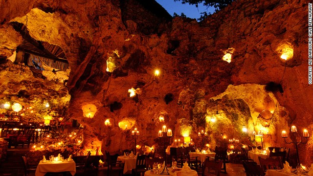 Ali Barbour's Cave restaurant is well-known restaurant situated inside a naturally-sculpted coral cave 10 meters below ground level.