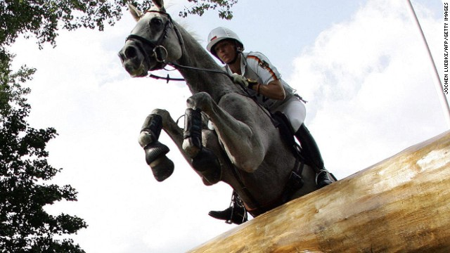 Cross-country courses are designed to test stamina, nerve and split-second decision-making as eventing riders negotiate a series of jumps and hazards spread across a four-mile track.