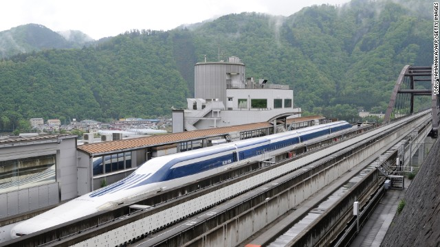 Floating (just slightly) above the rails of Japan's notoriously speedy train network, the new L0 series magnetic levitation trains don't need conventional wheels to reach speeds of over 500 km/h (310 mph).