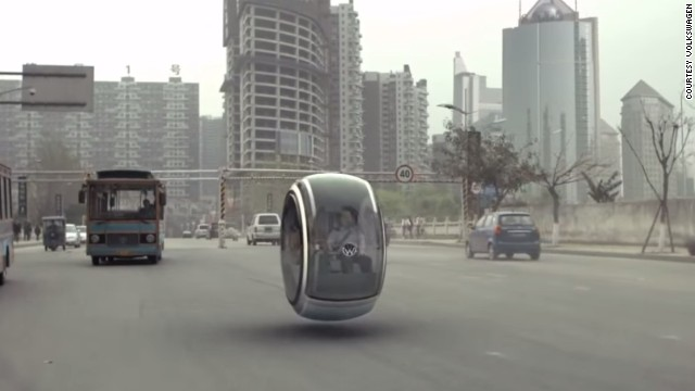 The (obviously) computer generated vehicle showed how magnetic levitation technology could one day lead to hover cars. Rivals Toyota agree, saying they would may build a hover car.