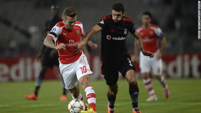 Arsenal and Besiktas will meet in north London next week for the second leg of their Champions League playoff tie.