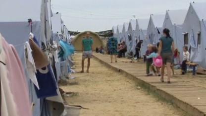 Ukrainian refugees flee to Russia