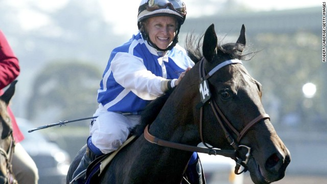 Julie Krone became the first female jockey to win a Triple Crown race when she rode Colonial Affair to victory at the Belmont Stakes in 1993.