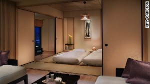 The Ritz-Carlton Kyoto\'s corner suite has its own tatami bedroom with futons, for those who want a real ryokan experience.