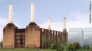 Terry Farrell\'s design envisaged the power station being transformed into a public park