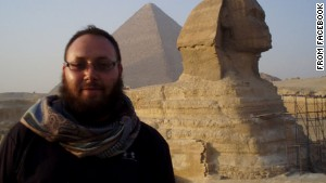 The photo, taken from Facebook, shows Steven Sotloff, an American journalist identified as one of ISIS\'s captives.