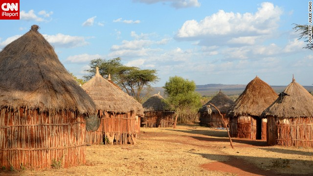 These traditional mud stick homes with thatched roofs belong to the Omo Borana tribe of southern Ethiopia.