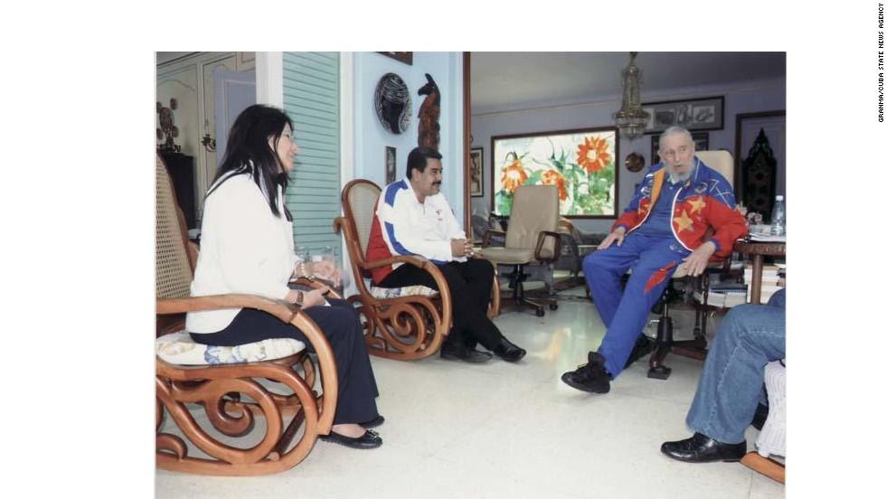 Maduro visitó a Fidel Castro