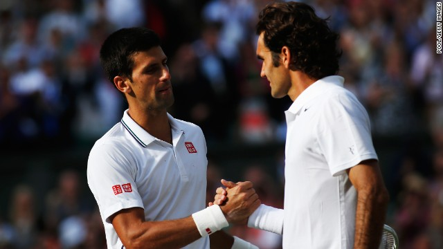 Novak Djokovic, left, beat Roger Federer in the Wimbledon final and the two could meet in the U.S. Open final.