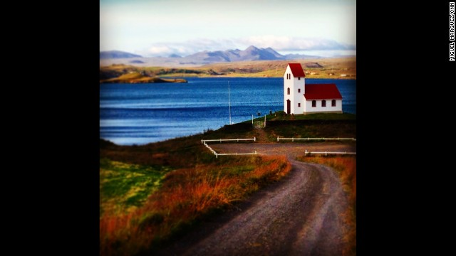 "ICELAND: The church by Ulfljotsvatn Lake, Þingvellir (Thingvellir) National Park. ""Just happened upon this little church not too far from Selfoss. Too much."" - CNN's Miguel Marquez. Follow Miguel (<a href='http://instagram.com/miggymoo' target='_blank'>@miggymoo</a>) and other CNNers along on Instagram at <a href='http://instagram.com/cnn' target='_blank'>instagram.com/cnn</a>."